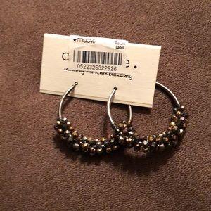 Jewelry - NWT costume jewelry- hoop earrings from Macy's.